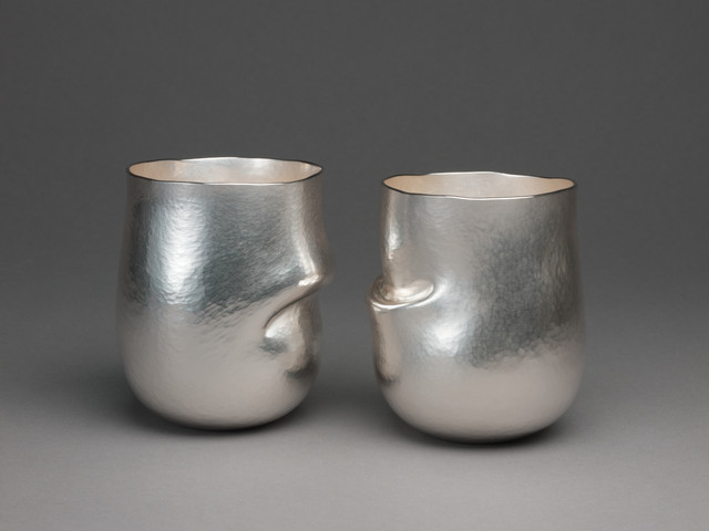 Two Beakers   Britannia Silver   Hand-raised and Chased  2011 £1100 each   Photo: Simon B. Armitt