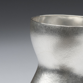 Posy Vase  Textured Britannia Silver  110 x 80 x 40mm appox   £800