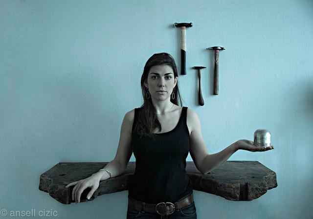 Elizabeth Auriol Peers  artist-silversmith    Photographer: Ansell Cizic