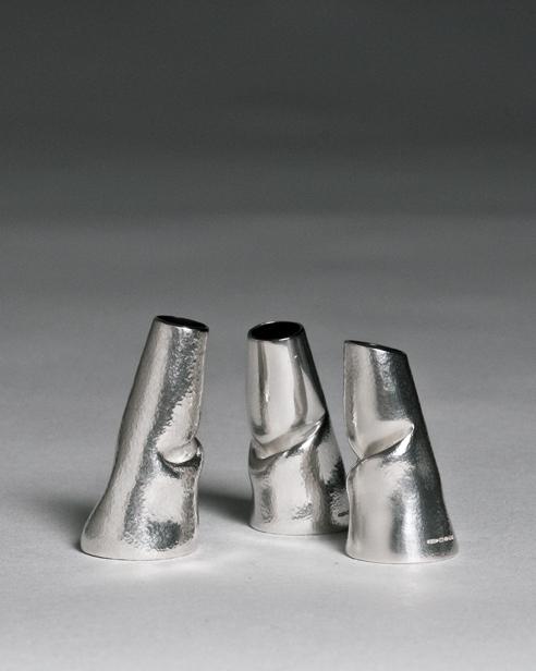 Slump Vases] Bud Vase Sterling Silver 2011 £290 each